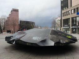 black stone sculpture in Dortmund