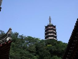 ancient traditional asian tower