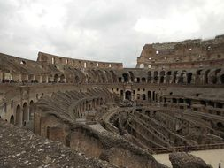 colosseum amphitheater arena interior view