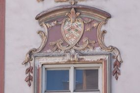 Facade of the house with stucco in the style of Rococo