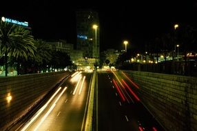night traffic in Gran Canaria, Spain