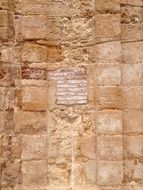 Closeup photo of red stone wall