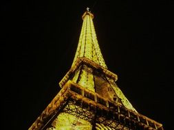 eiffel tower glow paris france