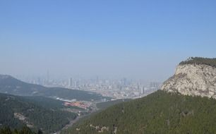 smog in mountain city China