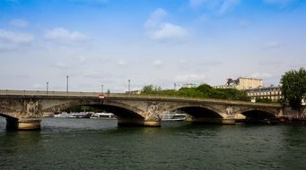 Bridge over the Seine river in the Paris,France