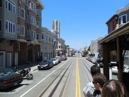 panoramic view of a city street in san francisco