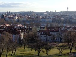 panoramic view of the old town Prague, Czech Republic