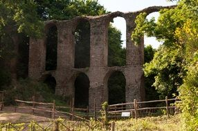 Ruins of a dead city in monterano, italy