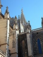 spiky towers and steeples on churches in Spain