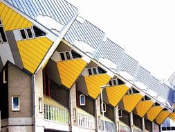 cube houses on stilts rotterdam