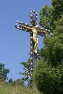Crucifixion monument in the Altmühltal natural park