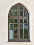 church glass window front view