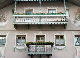 facade of a building with balconies in bavaria