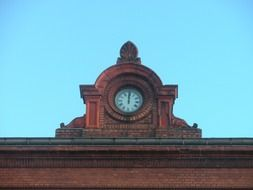 Railwatstation clock made of stone