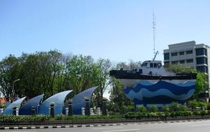 monument ship in indonesia