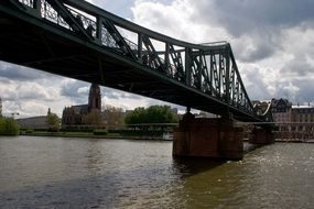 pedestrian bridge in Frankfurt am main