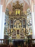 altar of Minor Basilica of St. Michael the Archangel, Austria, Mondsee