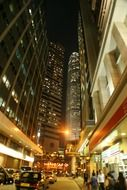 Hong Kong night streets