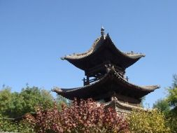 Chinese traditional building on a sunny day