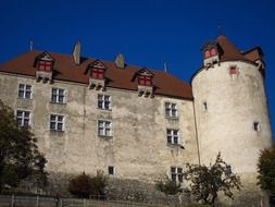 medieval castle gruyere in switzerland