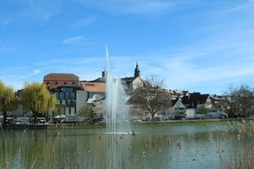 fountain in the upper lake, Baden-Württemberg