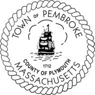 black and white emblem of a city in massachusetts