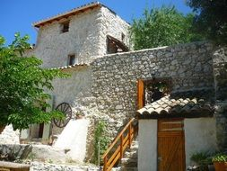 house with stone walls
