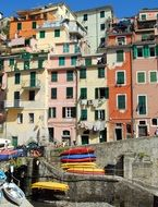 colorful narrow houses in cinque terre