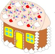 painted gingerbread house