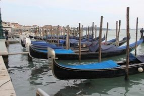 Gondolas in the water Venice Italy