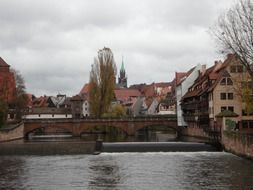old town nuremberg on a gray day