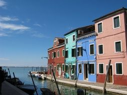colored houses in Venice