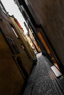 the old town alley in stockholm sweden