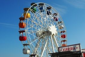 colorful ferris wheel in tibidabo