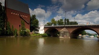 old bridge in Frankfurt am main