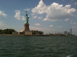 Statue of Liberty view from water