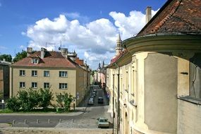 panoramic view of a city street in Opole