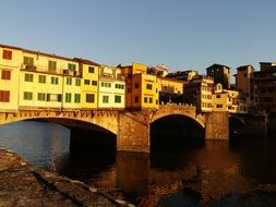 Ponte Vecchio is an arch bridge in Florence, Italy