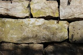 big stone wall pattern structure nature old stones