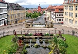 Fountain in the town square in Germany