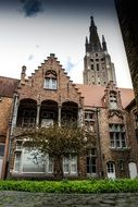 middle ages buildings in Bruges Belgium