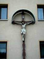 statue of the crucified Jesus Christ оn the Church