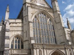 Exterior of Winchester cathedral in Hampshire