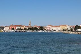 panorama of the port city in Croatia