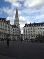 town hall square in Nantes