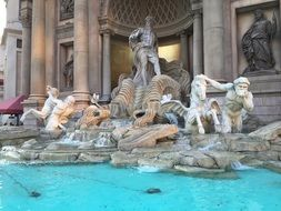 Fountain in caesars palace in las vegas