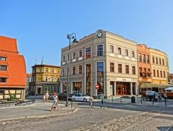 mostowa street in bydgoszcz poland colorful view