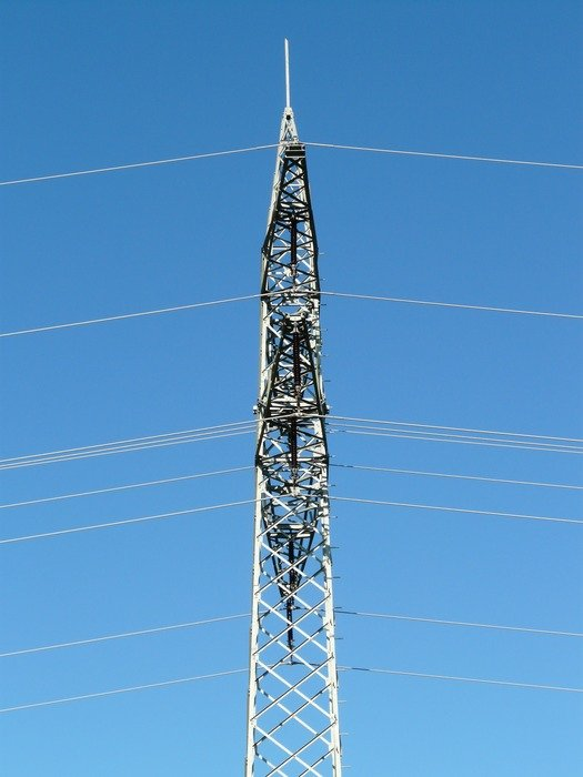 electrical pylon with wires