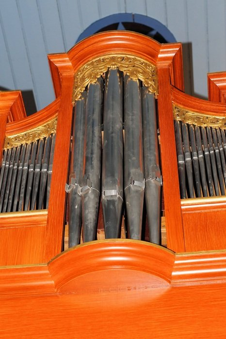 church wood organ