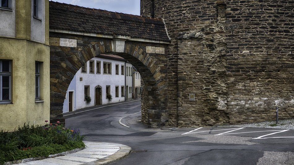 city wall in Freiberg, Germany